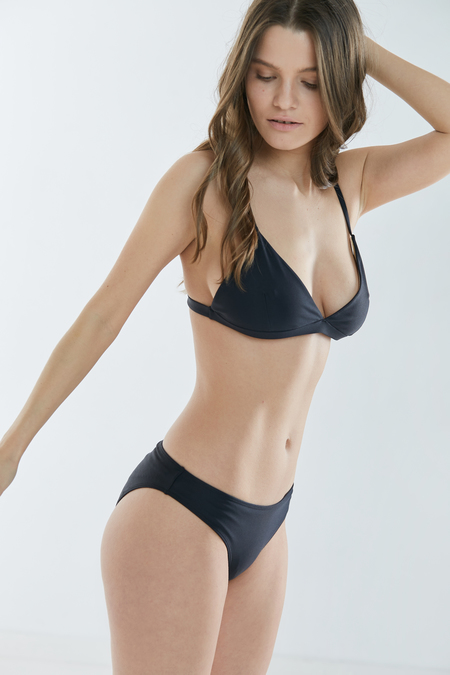 Baserange Mississippi Swim Top in Black
