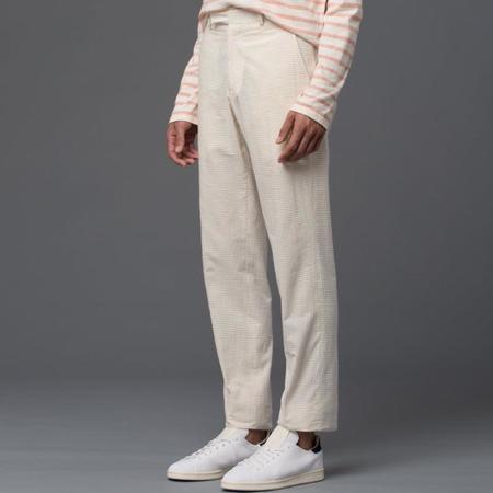 Palmiers Du Mal Horizontal Seersucker Como Trouser - Tan