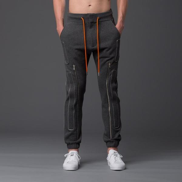 N-p-Elliott Interstellar Slim Zip Jogger - Grey