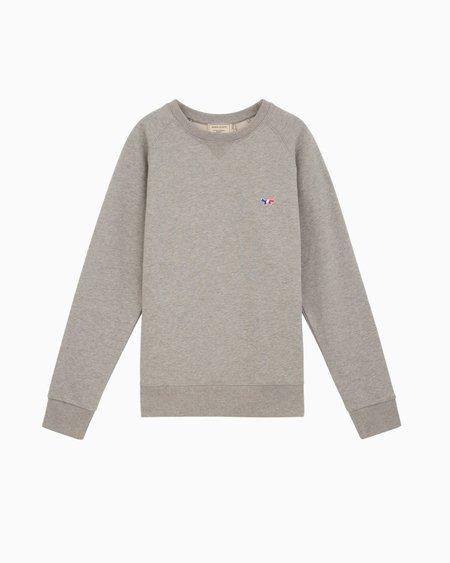 Maison Kitsune Tricolor Fox Sweatshirt - Heather Grey