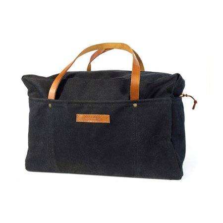 Red CLouds Collective Waxed Canvas Duffle Bag - Black