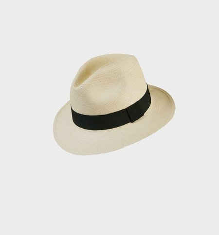 G.Viteri Fedora hat - Natural Black
