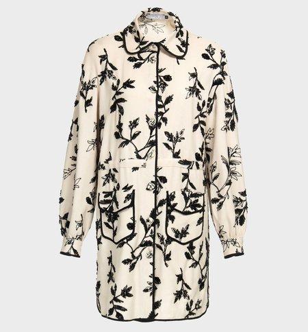 PatBO Panama Embroidered Shirt Dress