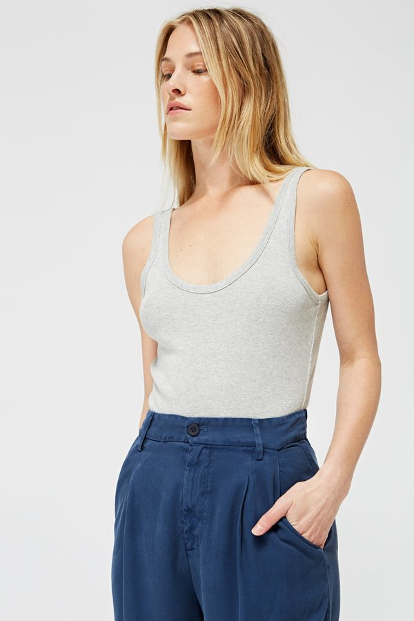 Lacausa Clothing Vida Bodysuit - Heather Grey