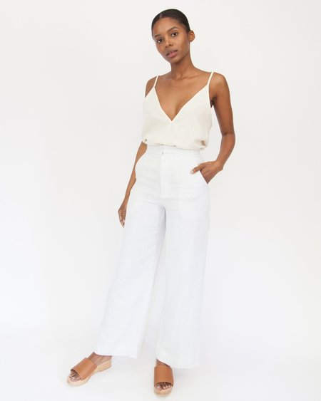 Esby VAL CROP PANT - SEA SALT