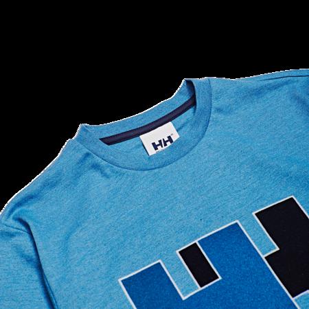 Unisex Helly Hansen Logo Tee - Melange Blue