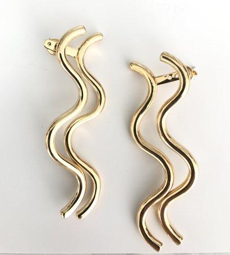 Muskoka Nord Aquarius Earrings - Gold Plated