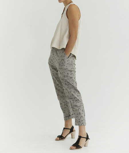 Ursa Minor Studio Peasy Pants - Pewter Print