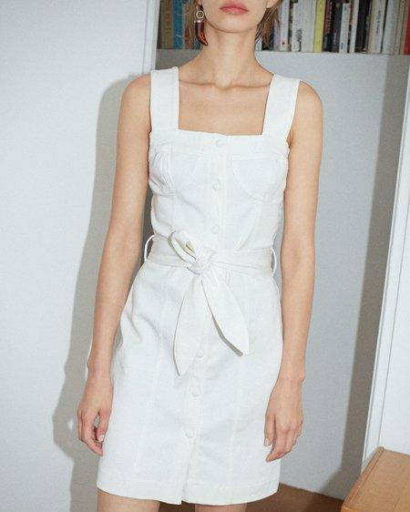 Nanushka Nuria Mini Dress With Bra-shape Top - White