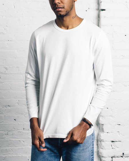 Folk Deboss Elbow Tee - White