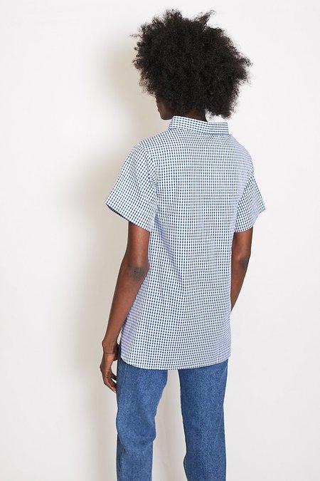 Toit Volant Marquette Shirt - White Blue Gingham