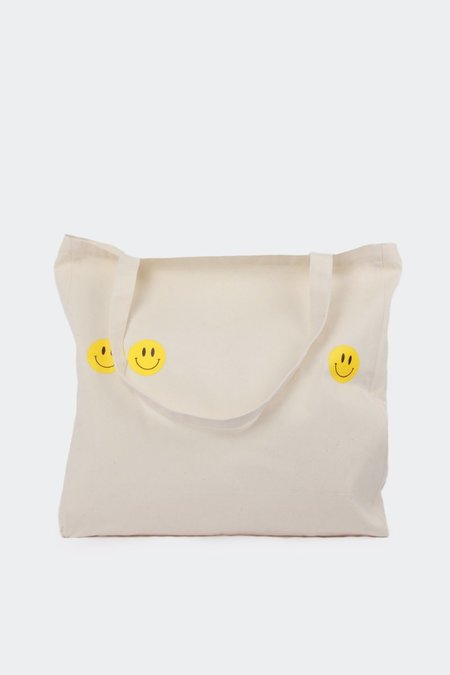 Unisex GOOD AS GOLD Smiley Tote - Natural