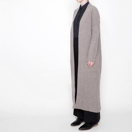 7115 Szeki 7115 by Szeki Long Ribbed Cardigan - Mocha