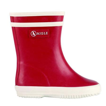KIDS Aigle Baby Flac Rain Boot - Red/White