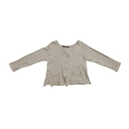 Kids Album Di Famiglia Connie Pockets Baby Cardigan - Grey