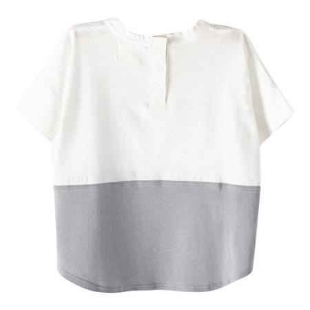 Kids Bacabuche Colour Block Tee - Snow Grey