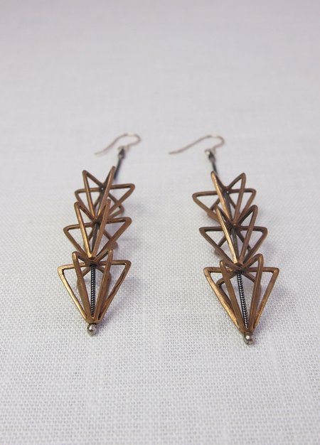Mikinora Triple Framed Cone Earrings