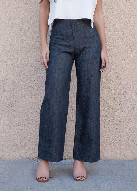 Ozma Wide Leg Denim Pants