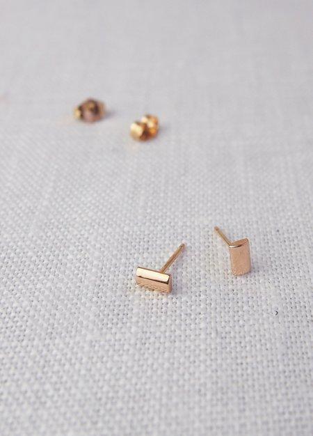 Nikki Montoya Jewelry Rounded Bar Studs - Rose Golds