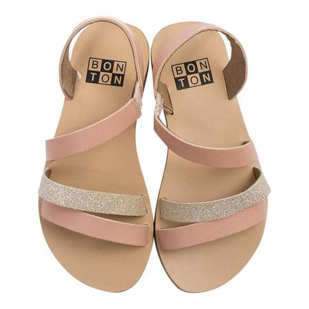 KIDS Bonton Leather Sandals - Natural