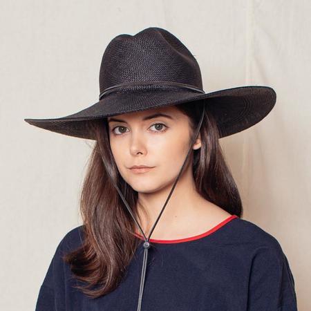 Brookes Boswell Boro Panama Straw Hat - Black
