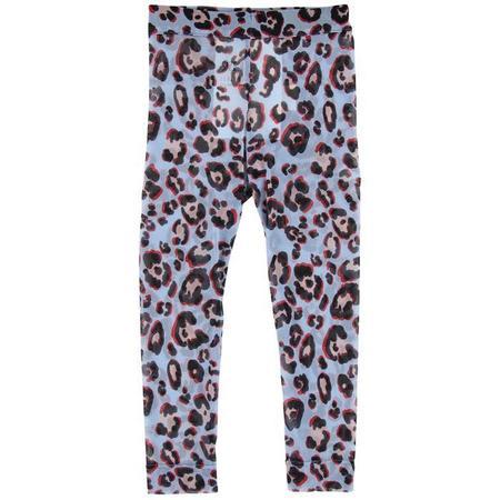 Kids Caroline Bosmans Cheetah Printed Mesh Leggings - Purple