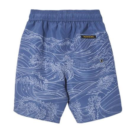 Kids Finger In The Nose Goodboy Swim Shorts - Indi Blue Waves