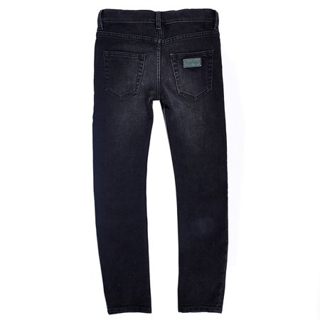 Unisex Kids Finger in the Nose Icon Five Pocket Slim Fit Jeans - Emerald Blue
