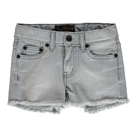 Kids Finger in the Nose Nove Woven 5 Pocket Denim Mini Shorts - Bleached Grey
