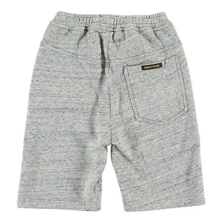Kids Finger In The Nose Player Fleece Oversized Bermuda Shorts - Heather Grey