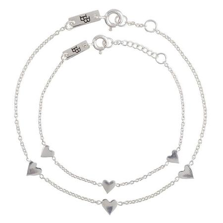 Kids Lennebelle Petites You Are Loved Mother & Daughter Bracelets (Set of 2) - Silver