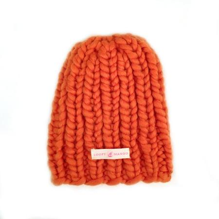 Kids Loopy Mango Mini Beanie - Orange