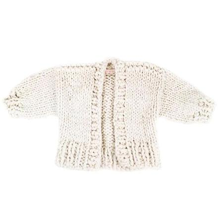 Kids Loopy Mango Mini Cardigan - Polar Bear