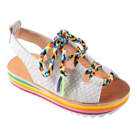 0fb4b8ed34f4d KIDS Maison Mangostan Guajava Leather Sandal - White Python Effect