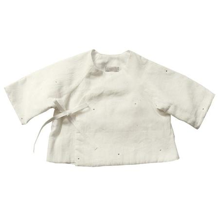 Kids Makié Mille Baby Jacket - Cream Dots