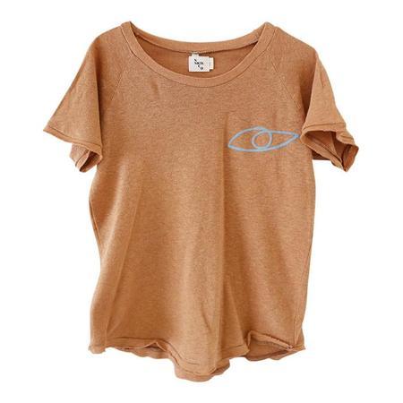 Kids Nico Nico Lucky Eyes Raglan T-shirt - Twig Brown