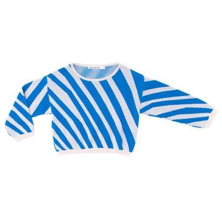 Noe & Zoe Baby Sweater - Blue Zebra