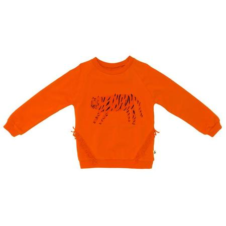 Kids Noe & Zoe Fringe Sweater - Orange