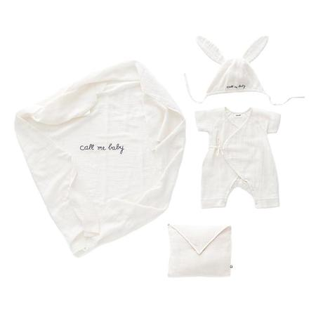 KIDS Oeuf NYC Swaddle Set - White