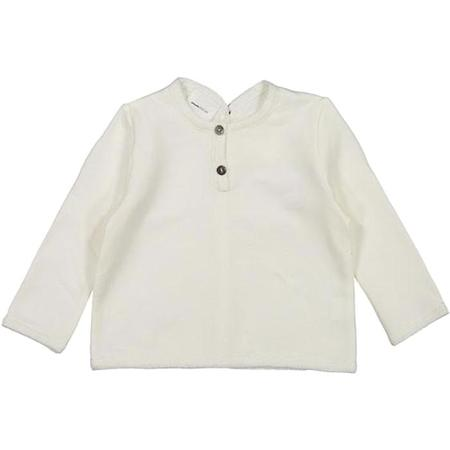 Kids Pequeno Tocon Back Button Long Sleeved Shirt - Cream