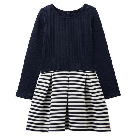 KIDS Petit Bateau Dress - Navy/White Stripes