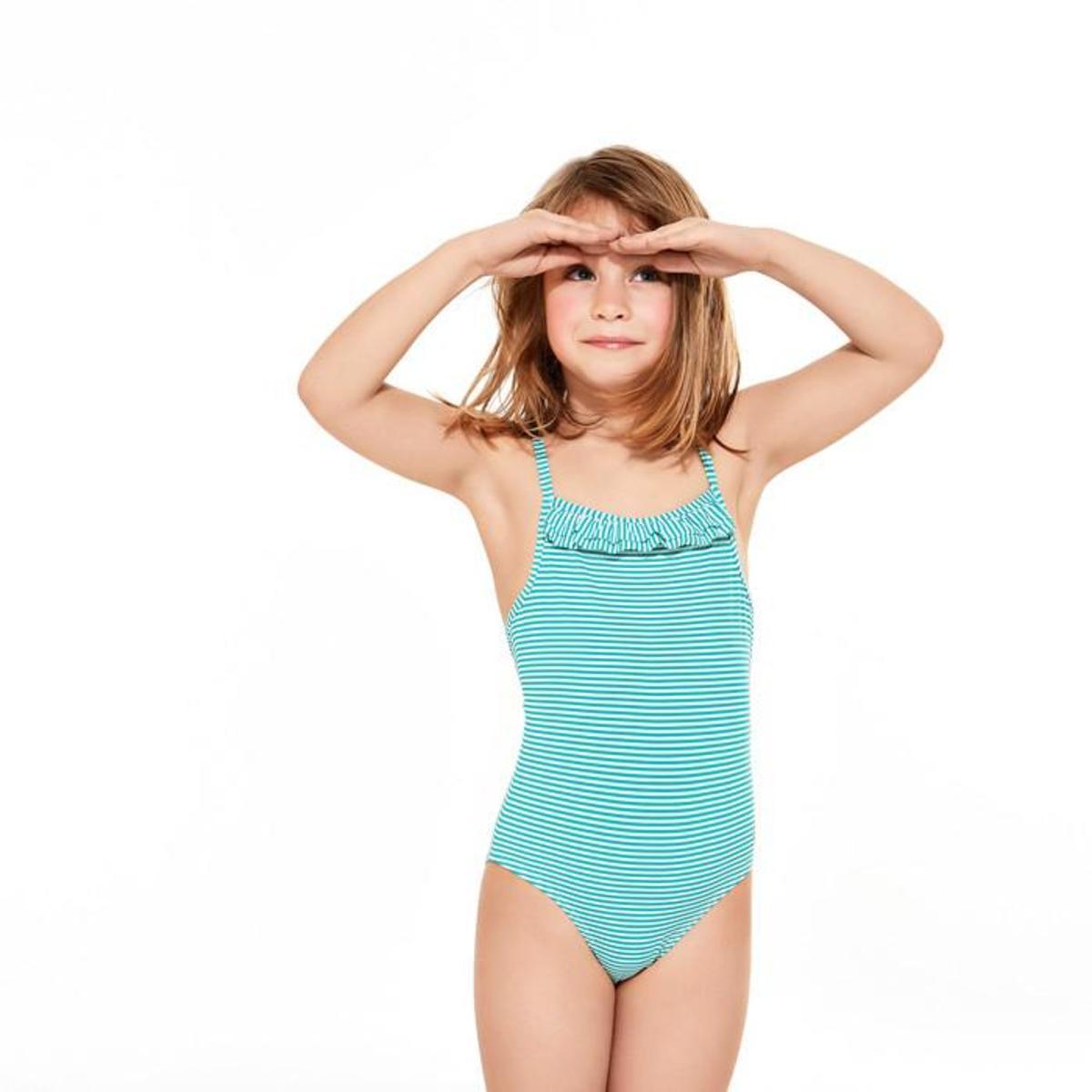 ecc3db95fa KIDS Petit Bateau Fini One Piece Swimsuit - Green White Stripes ...