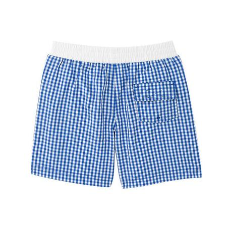 KIDS Petit Bateau Forum Swimshort Blue and White Check
