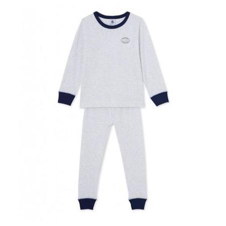 KIDS Petit Bateau Pyjama - Grey/White Stripe