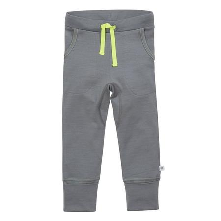 Kids Smalls 24 Hour Trouser - Grey With Yellow Stitch