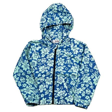 KIDS Sunchild Holbox Windbreaker - Seychalles Green and Blue Floral