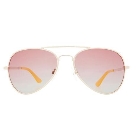 Winkniks Emmett Sunglasses - Brushed Gold Frame/Pink Grapefruit Lens
