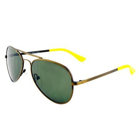 Winkniks Emmett Sunglasses - Vintage Gold/Olive Green Lenses