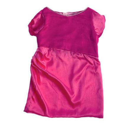 Kids Wovenplay Tulip Dress - Fuchsia Pint