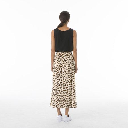 Ali Golden Drawstring Skirt - Black